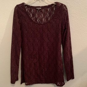 Express Long Sleeve size Medium Lace Top